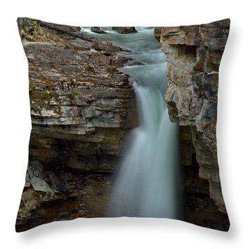 Beauty Creek Streams Od Blue Throw Pillow