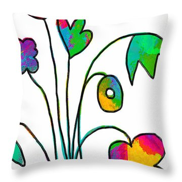 Throw Pillow featuring the painting Beauty Everywhere by Lisa Weedn
