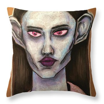 Beauty From Mars Throw Pillow