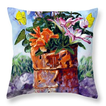 Beauty Grows Everywhere Throw Pillow by John Lautermilch