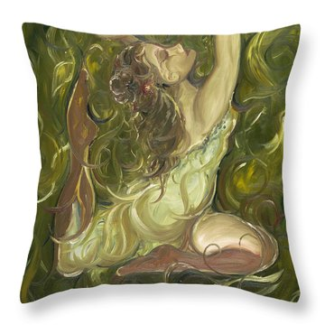Beauty Has Surfaced  Throw Pillow