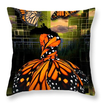 Throw Pillow featuring the mixed media Beauty In All Things by Marvin Blaine