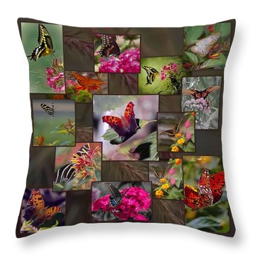 Beauty In Butterflies Throw Pillow by DigiArt Diaries by Vicky B Fuller