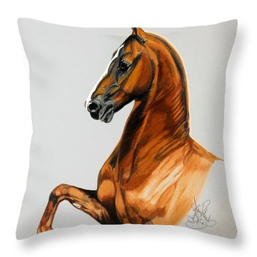 Sirtainly Stylish  - Saddlebred Throw Pillow by Cheryl Poland