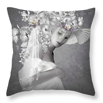 Beauty In The Eye Throw Pillow