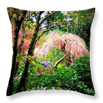 Beauty In The Garden Throw Pillow by Shirley Sirois