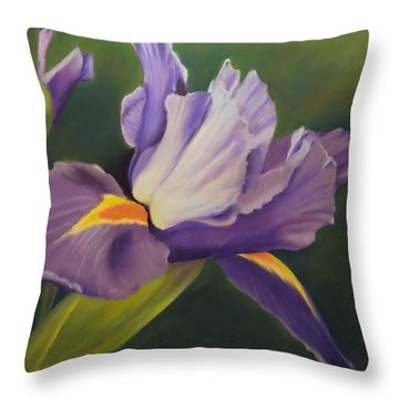 Beauty Is In The Iris Throw Pillow
