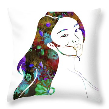 Beauty Lingers Throw Pillow