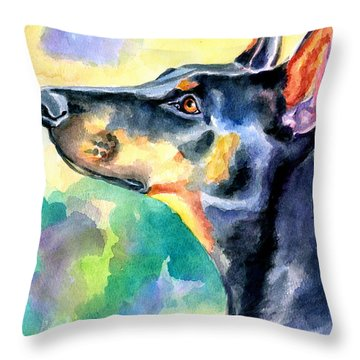 Doberman Pinscher Throw Pillows
