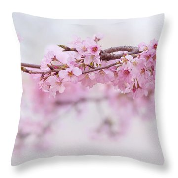 Beauty Of Blossom Throw Pillow