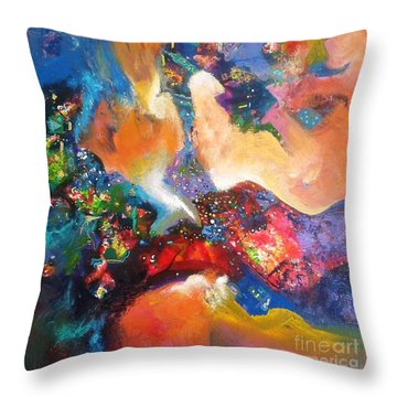 beauty of mirage II Throw Pillow