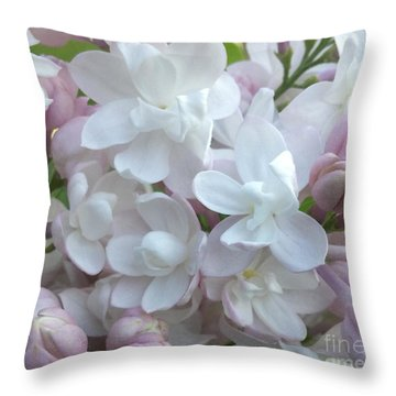 Beauty Of Moscow Lilac Maine Spring 2015 Throw Pillow by Patricia E Sundik