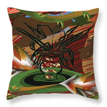 Beauty Of The Garden Throw Pillow