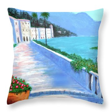 Beauty Of The Riviera Throw Pillow