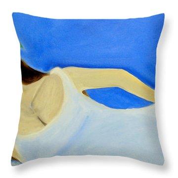 Beauty On The Beach Throw Pillow