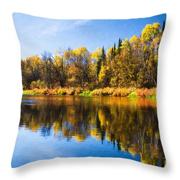 Beauty On The Big Fork Throw Pillow
