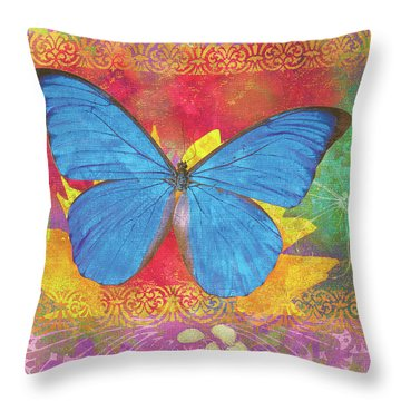 Beauty Queen Butterfly Throw Pillow