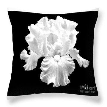 Beauty Queen In Black And White Throw Pillow