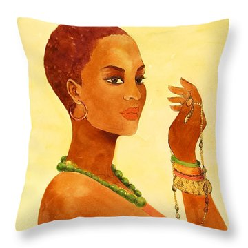 Beauty Stance Throw Pillow