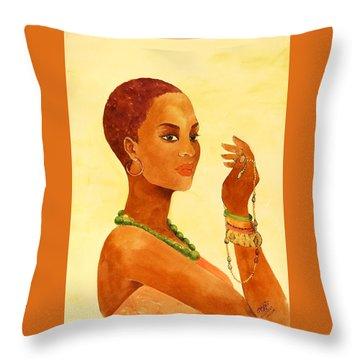 Beauty Stance Throw Pillow