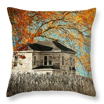 Beauty Surrounds Deserted Home Throw Pillow by Kathy M Krause