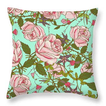 Beauty Throw Pillow by Uma Gokhale