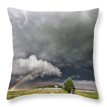 Beauty Within Darkness Throw Pillow