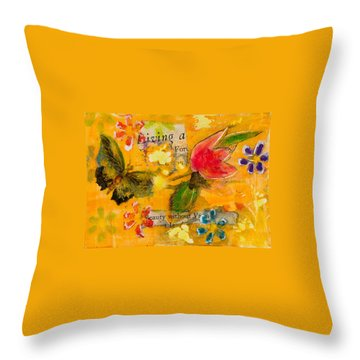 Beauty Without Vanity Throw Pillow