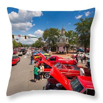 Beaver Car Show  Throw Pillow