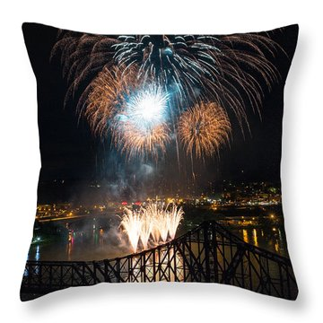 Beaver County Fireworks 2 Throw Pillow