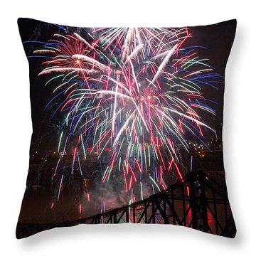 Beaver County Fireworks  Throw Pillow