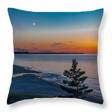 Beaver Creek Sunset Throw Pillow