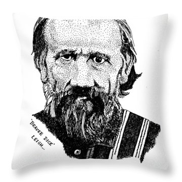 Beaver Dick Leigh Throw Pillow