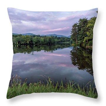 Beaver Lake Reflections Throw Pillow