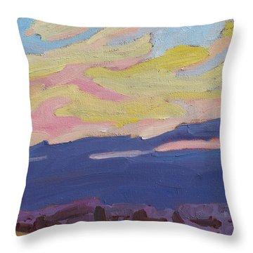 Beaver Sunset Throw Pillow