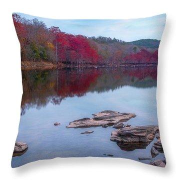Beavers Bend State Park Throw Pillow