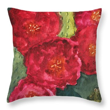 Beavertail Cactus Throw Pillow