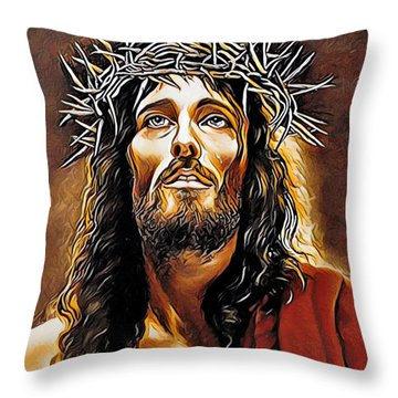 Because He Loves You Throw Pillow