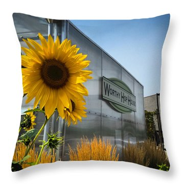 Becca's Sunflower Throw Pillow