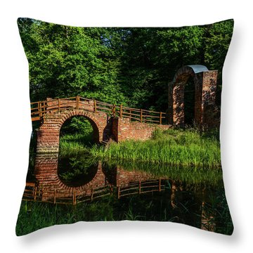 Beckerbruch Bridge Reflection Throw Pillow