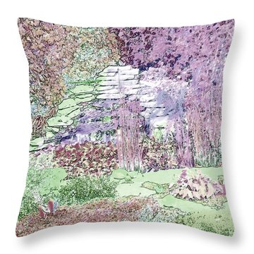 Beckie's Magic Garden Throw Pillow