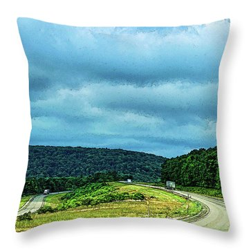 Beckoning Road Throw Pillow