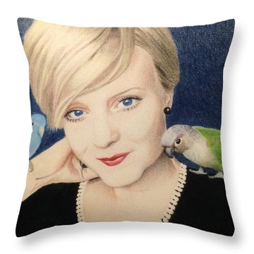 Becky And Friends Throw Pillow by Ana Tirolese