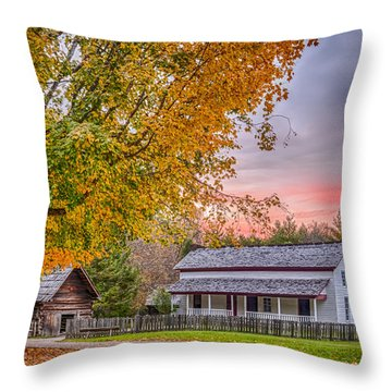 Throw Pillow featuring the photograph Becky Cabel House by Tyson and Kathy Smith