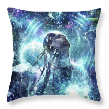 Become The Light Throw Pillow by Cameron Gray