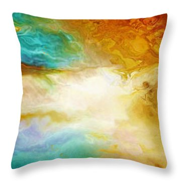 Becoming - Abstract Art Throw Pillow