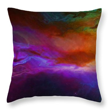 Becoming - Abstract Art - Triptych 1 Of 3 Throw Pillow