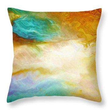 Becoming - Abstract Art - Triptych 2 Of 3 Throw Pillow