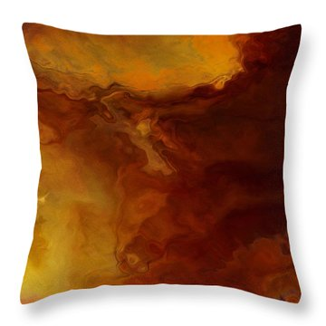 Becoming - Abstract Art - Triptych 3 Of 3 Throw Pillow