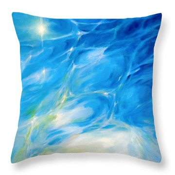 Becoming Crystal Clear Throw Pillow by Dina Dargo